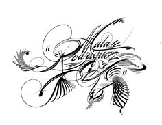 lettering for Mala Rodriguez. inspired from Madarasz calligraphy Typo, Lettering, Inspiration, Baddies, Bruges, Hipster Stuff, Biblical Inspiration, Drawing Letters, Texting