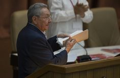 (Raúl Castro interviene en el VII Congreso del Partido Comunista de #Cuba