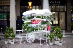Chanel Mother's Day Flower Stall Promotion.