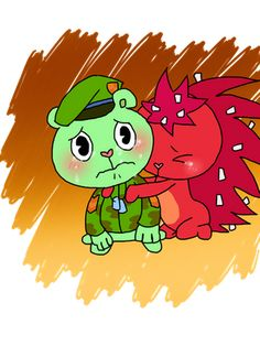 Asked by and I do not own Happy Tree Friends nor th. Ask HTF: Question 171 Happy Tree Friends Flippy, Happy Friends, Ninja Turtle Toys, Three Friends, Furry Drawing, Couple Cartoon, Bowser, Funny Pictures, Childhood