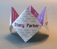 Party Favor Wedding Cootie Catcher Birthday by DesignsByTenisha
