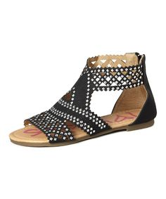 Look at this Black Cutout Wanda Sandal on #zulily today!