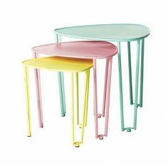 Lark Store / Pastel Nesting Tables