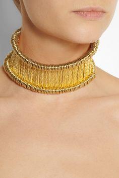 Alexander McQueen|Gold-tone bar choker