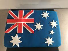 Australian Flag Cake #cakedecorating, #cake #birthdaycakes
