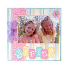 Embossed Spring Scrapbook Page