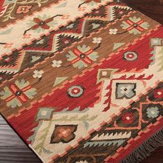 Western Jewel Rug-bright colors and a wonderful southwestern style. Find more great western rugs on