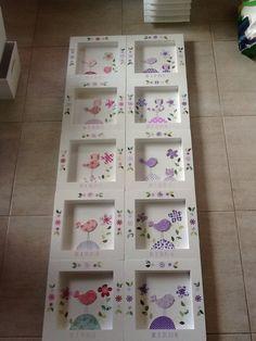 Cuadros pajaritos Kids Decor, Home Decor, Kids Cards, Ideas Para, Framed Art, Decoupage, Coasters, Scrapbook, Holiday Decor