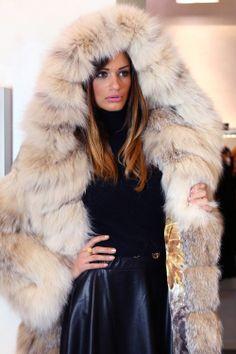 hooded lynx fur coat | eBay ~6000€
