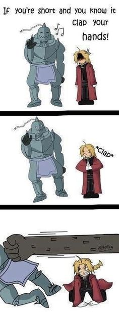 Don't call me short! FMA - Fullmetal Alchemist haha!