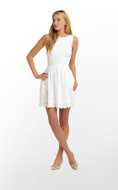 Sandrine Dress in Resort White Dupre Eyelet $228 (w/o 3/9/13) #lillypulitzer #fashion #style