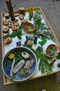 Natural Loose Parts provocation for creating or storytelling from Stomping in the Mud! Natural Loose Parts provocation for creating or storytelling from Stomping in the Mud! Play Based Learning, Early Learning, Nature Activities, Preschool Activities, Preschool Homework, Reggio Emilia, Micro Creche, Reggio Classroom, Outdoor Classroom