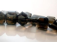 Smoky Quartz Large Faceted Focal Beads AA Plus Quality by JewelryQuestDesign, $2.55
