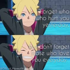 Boruto Uzumaki Boruto Naruto Next Generations Anime Quote Manga Zitate