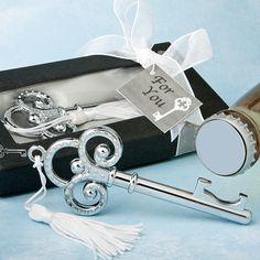 100 Royal Key Bottle Opener Wedding or Bridal Shower Favor - Other