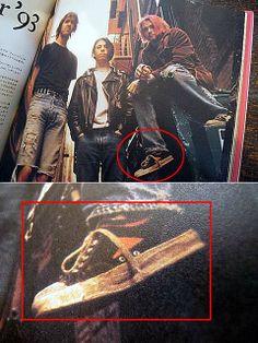 Kurt Cobain from Nirvana wearing Wilson by Bata shoes (1993) #batashoes
