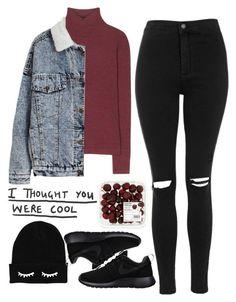 Untitled #78 by valdis00 ❤ liked on Polyvore featuring T By Alexander Wang, Topshop and NIKE