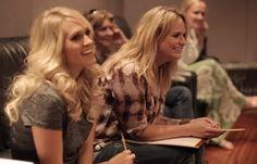 "Scenes of Miranda Lambert and Carrie Underwood's ""Somethin' Bad ..."
