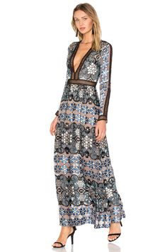 For Love & Lemons VESTIDO MAXI JULIET