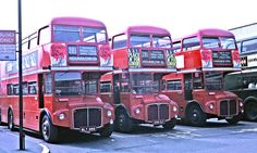 London Transport: + on Route 281 with on Route all from Fulwell Garage, in Wood Street Bus Stand, Kingston London Bus, Old London, Volkswagen Bus, Volkswagen Beetles, Vw Camper, Bus Stand, Big Red Bus, New Bus, Routemaster