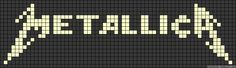 Pennis Enlargement - Metallica name grid - How To Increase Your Penis Size Naturally Without Surgery, Pills, Suction Devices Or Crazy Contraptions! Cross Stitch Bookmarks, Cross Stitch Charts, Cross Stitch Designs, Cross Stitch Patterns, Bead Loom Patterns, Perler Patterns, Beading Patterns, Metallica, Minecraft Pattern