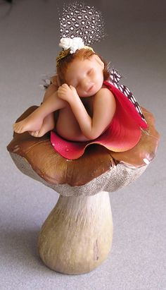 Birthday list! - Angel Fairy Nissa brownie sprite polymer clay by FantasiaCreations, $45.00