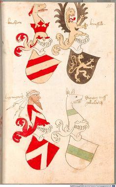 Bruderschaftsbuch des jülich-bergischen Hubertusordens Niederrhein, um 1500 Cod.icon. 318  Folio 55r