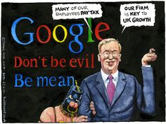 23 April 2013 - Bell draws the chairman of Google who is defending the company's £6m corporation tax payment. George Osborne cuddles up to him.