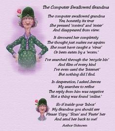 New Grandma to Be Poems Funny Poems For Kids, Kids Poems, Silly Poems, Funny Old People, You Funny, Funny Stuff, Old Age Humor, Senior Humor, Senior Quotes