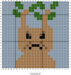 Mandrake graph   Designed by Autumn Edlin   Stitch Fiddle - Stitch Fiddle
