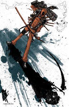 Deadpool Demon Shadow by Ostlie.deviantart.com