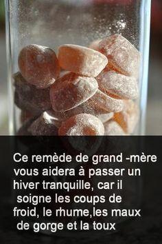 Recette des bonbons fait-maison contre la toux et le rhume #Toux #Rhume #Maison #Recette #Faitmaison #Contre