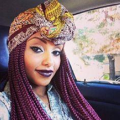 Turban and braids. Double love                                                                                                                                                                                 Mais