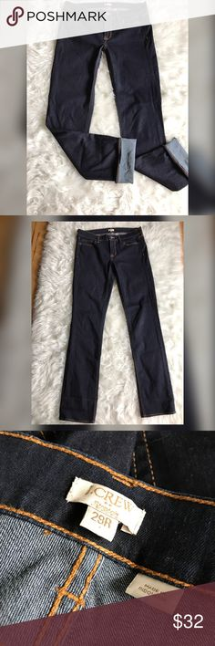 J. Crew Straight Leg Darkwash Stretch jeans !Please see photos for all details and measure! This item comes from a smoke free home!! No rips, tears holes or stains to note!! Fast shipping!! Buy confidently!! THANKYOU for looking!! Happy shopping J. Crew Jeans Straight Leg