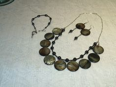 Beaded Necklace Bracelet and Earrings Made by SandiesGiftCorner, $34.95