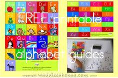 FREE printable alphabet guides for kids, preschool, the classroom and homeschool.