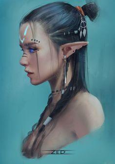 Elfen Fantasy, Fantasy Rpg, Dark Fantasy Art, Fantasy Artwork, Anime Fantasy, Fantasy Character Design, Character Design Inspiration, Character Art, Fantasy Women