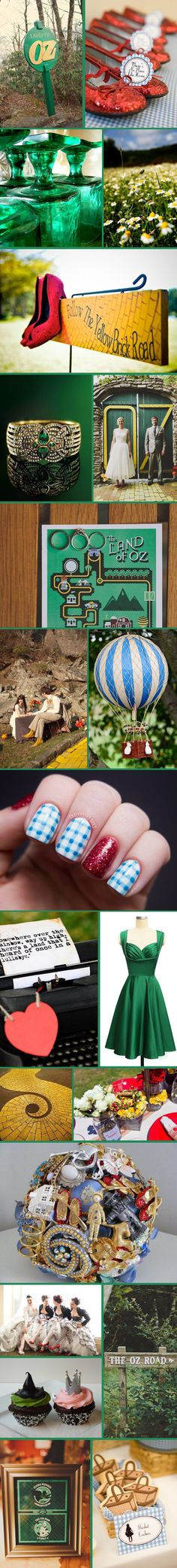 Wizard Of Oz Wedding Inspiration.. SO wouldn't do this but I think it's kinda cute!