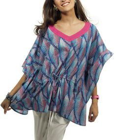 Turquoise & Pink Parrot Cover-Up by Barrier Reef Designs #zulily #zulilyfinds