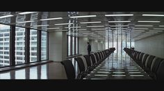 "The Cinematography of ""The Dark Knight""  Cinematographer: Wally Pfister. Lovely use of lines and reflections in this shot. #cinematography #lighting #Dark Knight"