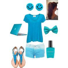 Daughter of Poseidon outfit<---/ I LOVE this especially since blue is my fav color!!!