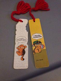 Vintage Garfield Bookmarks