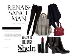 """""""what's in the bag?"""" by nylover-998 ❤ liked on Polyvore featuring Yves Saint Laurent, Acne Studios and MAC Cosmetics"""