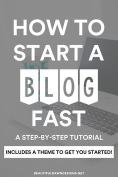 An easy to follow step-by-step guide for starting your blog. This detailed tutorial includes photos to guide you through each step. You'll also receive a WordPress theme to get you started with your new blog.