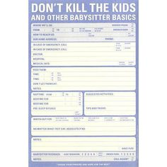 lol  ~  Don't Kill The Kids Notepad ~ from 'Who's There, Inc.'