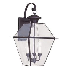 Westover Bronze Three Light Outdoor Wall Lantern Livex Lighting Wall Mounted Outdoor Out
