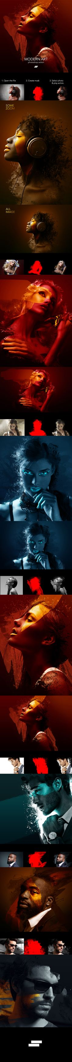 Modern Art Photoshop Action - Photo Effects Actions