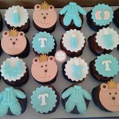 Cupcake Chá de Bebê Urso Príncipe