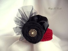 Mini Pillbox Hat Infant Photo prop Crochet Red by BabyLeCradle, $18.00