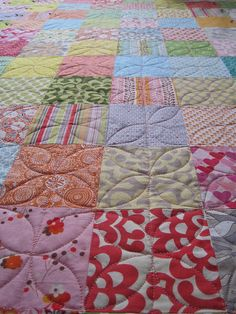 Cute quilting -- good idea for a quilt I've got to make this week.